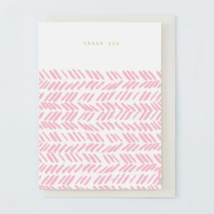 'Thank You' Card Pink