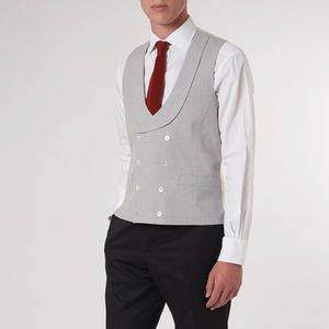 Grey Double Breasted Waistcoat - coats & jackets