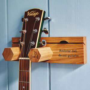 Personalised Guitar Stand And Plectrum Holder