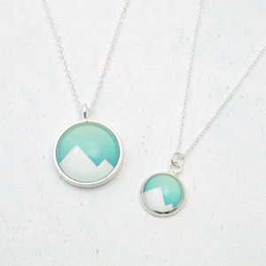 Geometric Mountain Necklace - necklaces & pendants