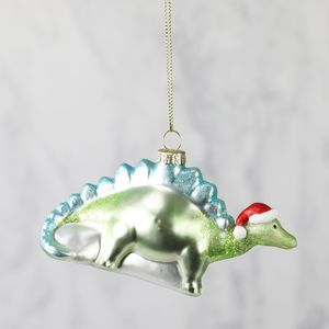 Dinosaur In Santa Hat Bauble - winter sale