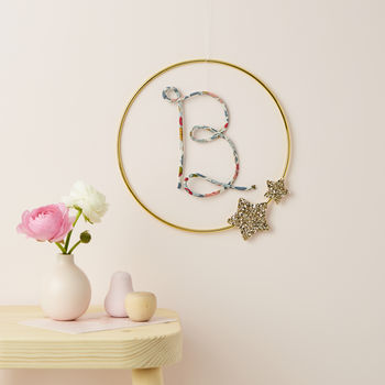 Hoop Initial Sign Choice Of Prints