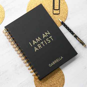 Personalised I Am An Artist Notebook