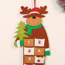 Felt Reindeer Hanging Christmas Advent Calendar