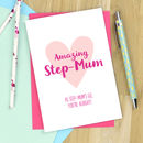 Personalised Step Mum Mother's Day Card