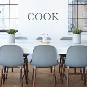 'Cook' Wall Sticker - office & study