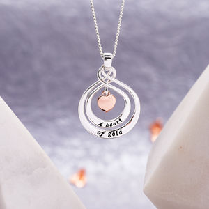 A Heart Of Gold Pendant Necklace - new lines added