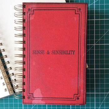'Sense And Sensibility' Upcycled Notebook