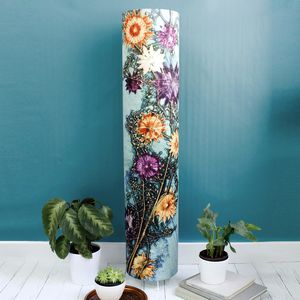 Artistic Green Floral Botanical Meter High Floor Lamp - bedroom