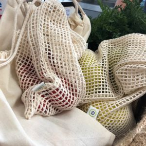Reusable Organic Cotton Produce Bags - mindful living