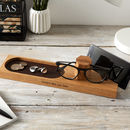 Solid Oak Personalised Glasses Stand