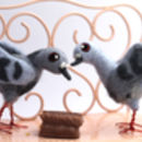 Needle Felted Pigeon Ornament