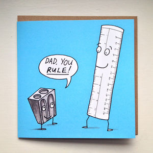 'Dad You Rule' Card - view all father's day gifts