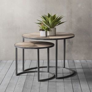 Set Of Two Crescent Nesting Tables - furniture