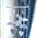 Personalised Wooden Bunny Wall Mobile