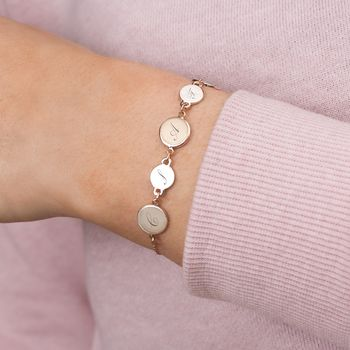 Personalised Family Initial Disc Bracelet