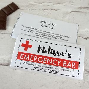 Personalised Emergency Chocolate Bar - chocolates & confectionery
