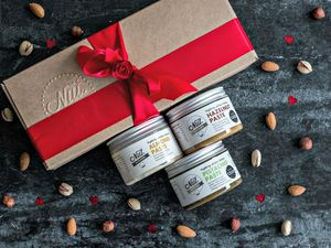 Baker's Trio Of Nut Pastes - dietary food and drink