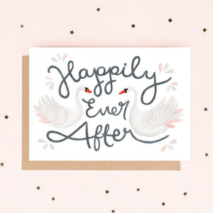 'Happily Ever After' Wedding Card