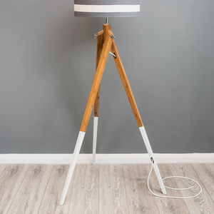 Dipped Leg Tripod Floor Lamp Base Choice Of Colours