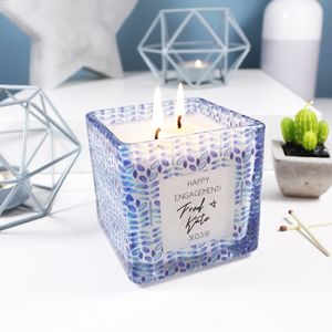 Engagement Scented Square Candle Gift