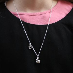 Children's Silver Swan Necklace - shop by price