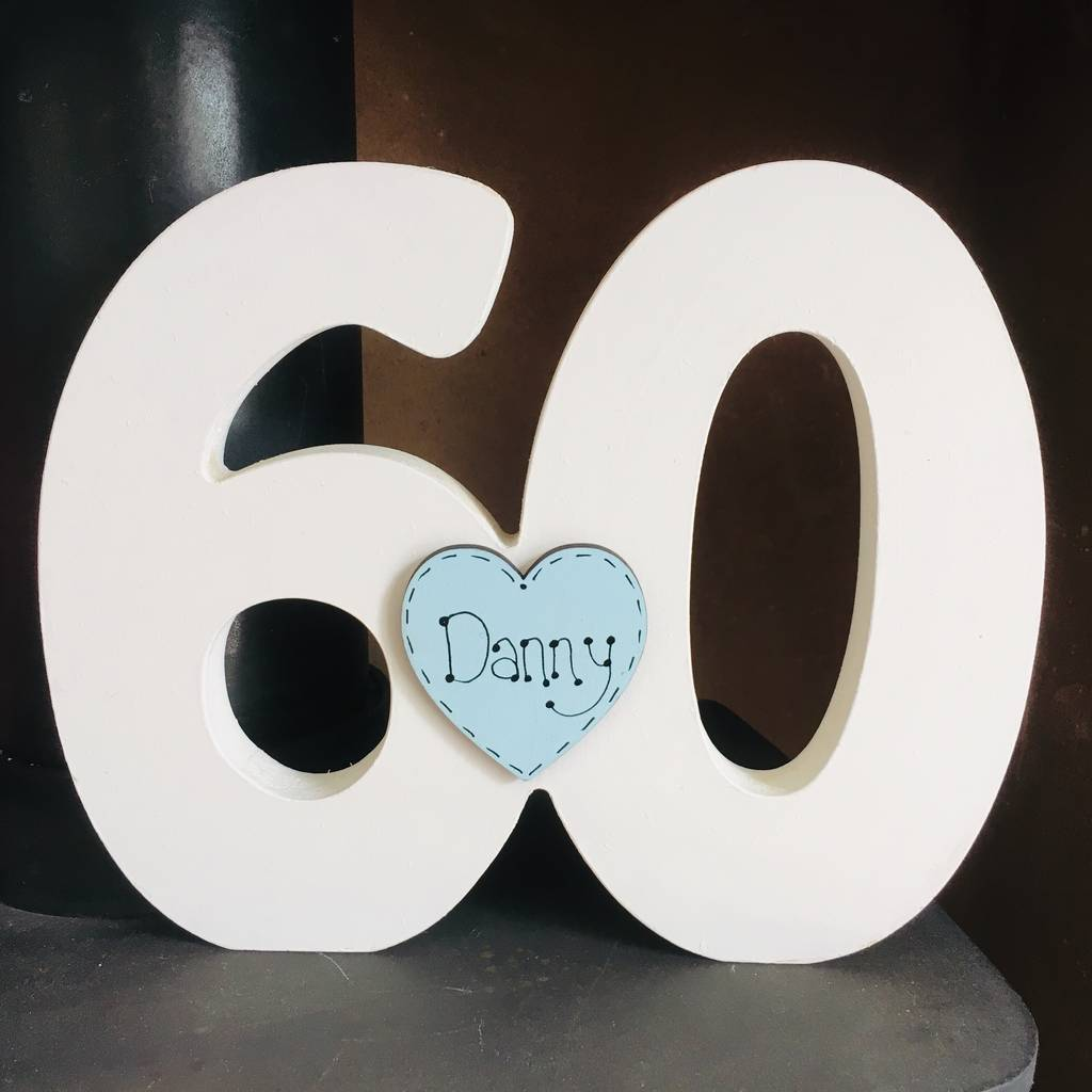 60th Birthday Freestanding Number Guest Book By Craft Heaven Designs