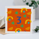 3rd Birthday Card, Card For Three Year Old, Unisex
