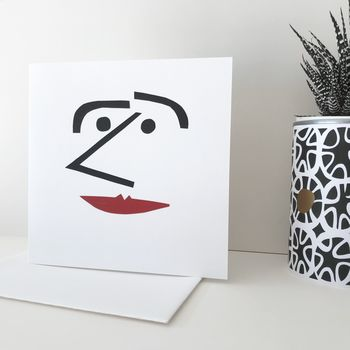 Hand Made Card 'Man With A Nose'