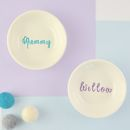 Personalised Porcelain Ring Dish Or Trinket Bowl