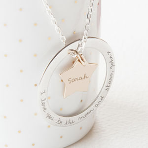 Personalised Eternity Star Necklace - gifts for her