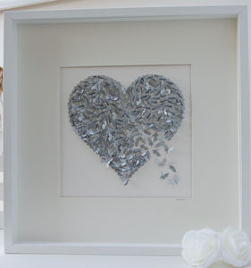 Silver Wedding Anniversary Butterfly Heart Picture