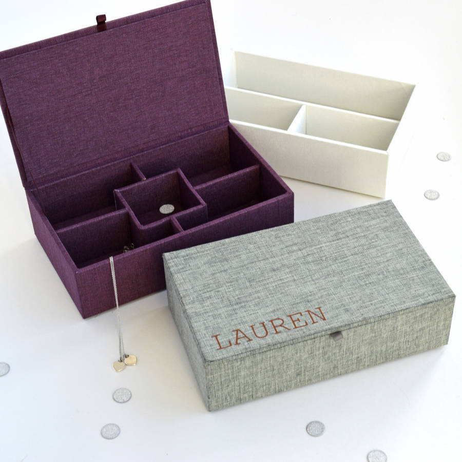 personalised fabric jewellery box by solesmith notonthehighstreetcom