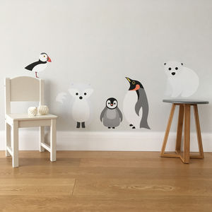 Arctic Animals Wall Sticker Set - children's room