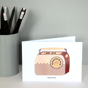 Bush Radio Greetings Card