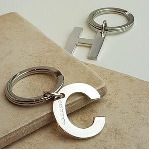 Alphabet Key Ring Initial In Sterling Silver
