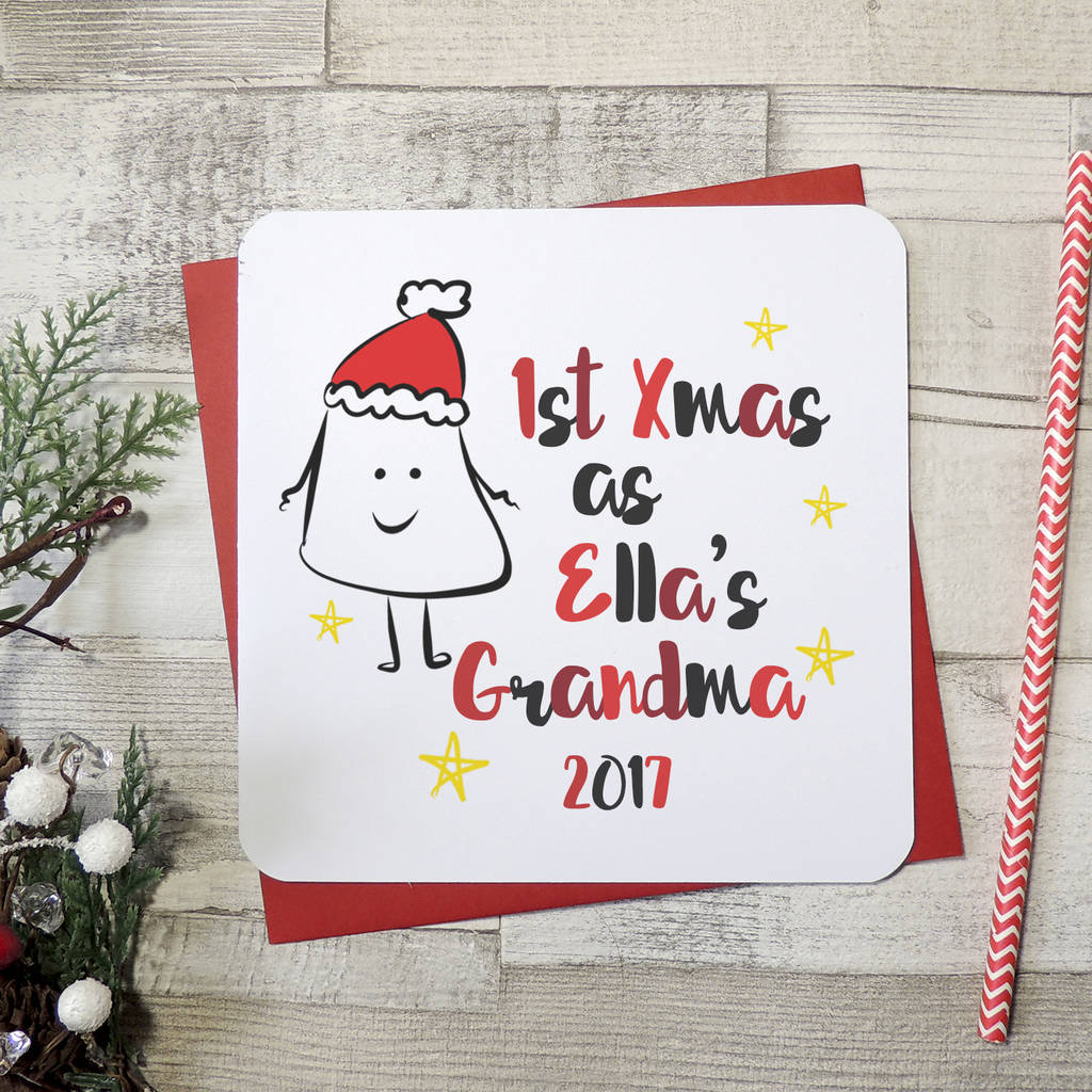 Personalised First Christmas As Grandmother Card
