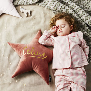 Personalised Velvet Name Cushion - gifts for children