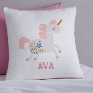Personalised Scandi Unicorn Cushion - baby's room