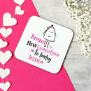 New Grandmother Pink Or Blue Personalised Drink Coaster