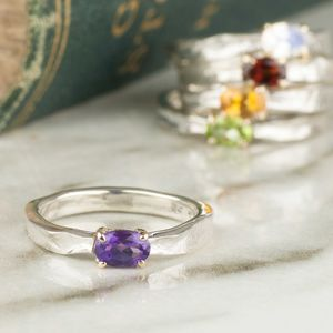Cinderella Birthstone Ring In Sterling Silver And Gold - what's new