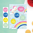 Personalised Unicorn Invitations With Sticker Activity