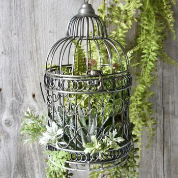 Black Birdcage Planter