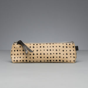 Hair On Hide Pencil Case - writing