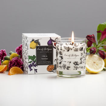 Summer Natural Scented Candle With Fig And Cassis