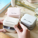 Personalised Mini Square Quote Travel Jewellery Box