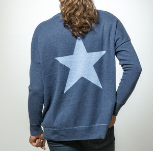 Cashmere Oversized Star Jumper - more