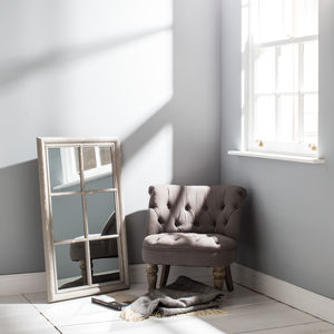 Wilton Grey Panel Window Mirror - mirrors