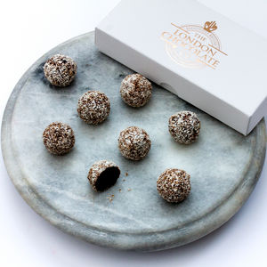 Vegan Friendly Dark Chocolate And Coconut Truffles - gifts for vegans
