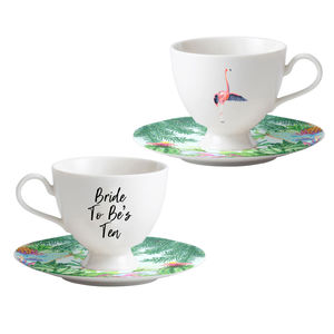 Personalised Fine Bone China Tea Cup And Saucer Set